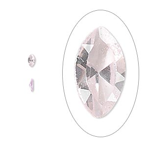 gem, cubic zirconia, sapphire rose, 4x2mm faceted marquise, mohs hardness 8-1/2. sold per pkg of 5.
