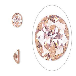 gem, cubic zirconia, sapphire rose, 8x6mm faceted oval, mohs hardness 8-1/2. sold per pkg of 2.