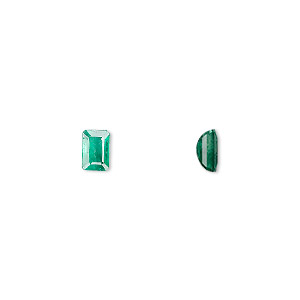 gem, emerald (oiled), 6x4mm faceted emerald-cut, a grade, mohs hardness 7-1/2 to 8. sold individually.