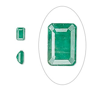 gem, emerald (oiled), 6x4mm faceted emerald-cut, b grade, mohs hardness 7-1/2 to 8. sold individually.