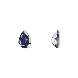 gem, iolite (natural), 10x7mm faceted pear, a grade, mohs hardness 7 to 7-1/2. sold individually.