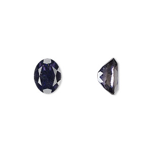 gem, iolite (natural), 10x8mm faceted oval, a grade, mohs hardness 7 to 7-1/2. sold individually.
