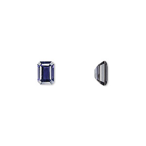 gem, iolite (natural), 7x5mm faceted emerald-cut, a- grade, mohs hardness 7 to 7-1/2. sold individually.