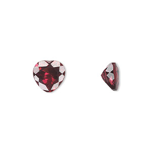 gem, rhodolite garnet (natural), 8x8mm faceted heart, a grade, mohs hardness 7 to 7-1/2. sold individually.