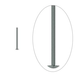 headpin, gunmetal-plated brass, 1/2 inch, 22 gauge. sold per pkg of 500.