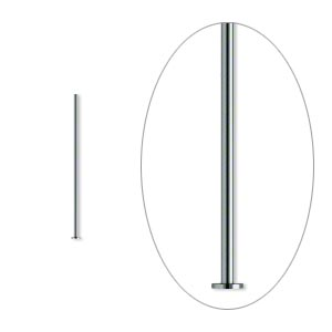 headpin, gunmetal-plated brass, 3/4 inch, 24 gauge. sold per pkg of 500.