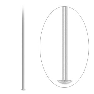 headpin, silver-plated brass, 1-1/2 inches, 24 gauge. sold per pkg of 100.