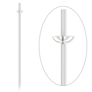 headpin, sterling silver, 1-1/2 inches with cup and peg, 21 gauge. sold per pkg of 4.