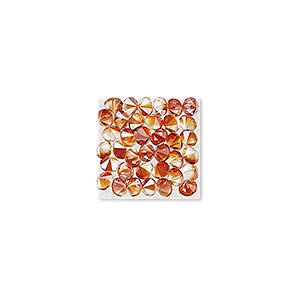 iron-on transfer, swarovski hotfix crystal rocks, crystal red magma, 15x15mm square (340348). sold individually.