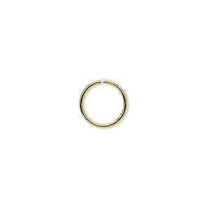 jumpring, brass, 10mm round, 8.4mm inside diameter, 20 gauge. sold per pkg of 100.