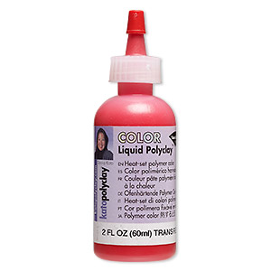 kato polyclay™ medium liquid, transparent red. sold per 2-fluid ounce bottle.
