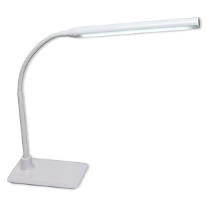 lamp, daylight™ unolamp table, plastic / foam / steel, multicolored, 4-3/4 x 6-1/2 inch base, adjusts from 10-1/2 to 27-1/4 inches. sold individually.