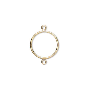 link, 14kt gold-filled, 14mm open round. sold per pkg of 2.