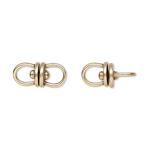 link, jbb findings, antiqued brass, 16x7.5mm with center swivel. sold per pkg of 2.
