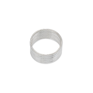 memory wire, silver-plated carbon steel, 1/2 inch toe ring, 0.65-0.75mm thick. sold per pkg of 12 loops.