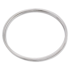 memory wire, stainless steel, 2-1/4 inch bracelet, 0.65-0.75mm thick. sold per 1-ounce pkg, approximately 50 loops.