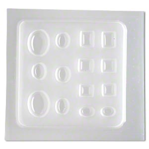 mold, deep flex™, plastic, 16x12mm-32x24mm assorted shape cabochon. sold individually.