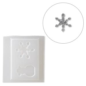 mold, deep flex™, plastic, 42x26mm snowman and 42x37mm snowflake. sold individually.