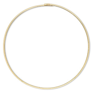 neckwire, gold-plated brass, 3mm flat, 16 inches with locking end. sold individually.