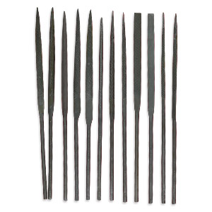 needle files, carbon steel, 5-1/2 inches. sold per 12-piece set.