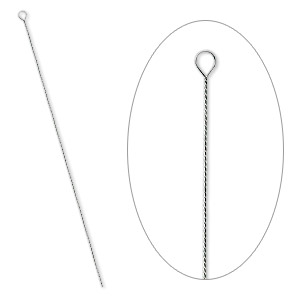 needle, stainless steel, 2-1/2 to 3-inch twisted, #10 light-medium. sold per pkg of 100.