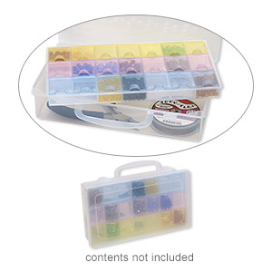 organizer, acrylic, multicolored, 8-3/4 x 5 x 2-inch rectangle, 21 compartments. sold individually.
