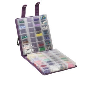 organizer, craft mates™ ezy lock™ double snappin organizer™, super mega size, ultra-suede, purple, 8-locking caddies, 9-1/2 x 9 x 2-3/4 inches. sold individually.