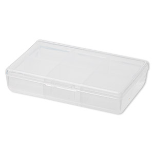 organizer, plastic, 3-1/2x2x3/4 inch rectangle with six fixed cells. sold per pkg of 10.