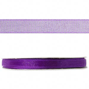 organza ribbon, nylon, purple, 1/4 inch. sold per 33-yard spool.