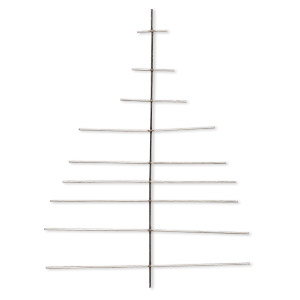 ornament frame, steel, 8-1/2x6 inch tree, 16 gauge wire. sold per pkg of 2.