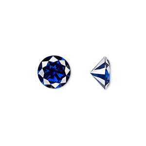Faceted Gems Cubic Zirconia Blues