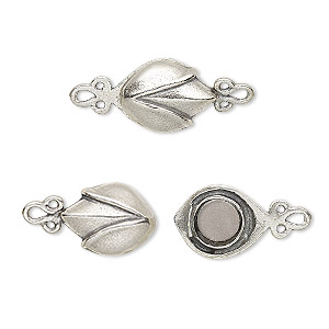 Magnetic Sterling Silver Silver Colored