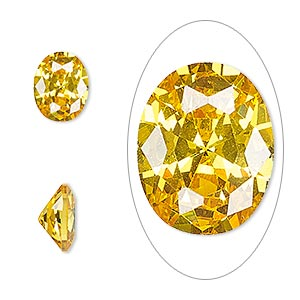 Faceted Gems Cubic Zirconia Yellows