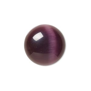 Cabochons Cat's Eye Glass Purples / Lavenders