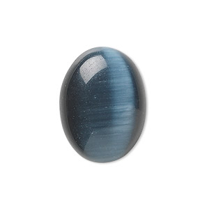 Cabochons Cat's Eye Glass Blacks