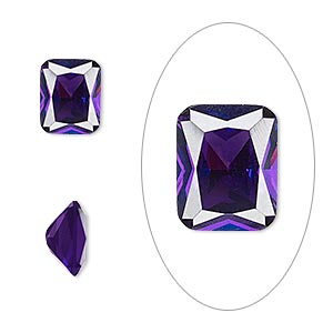 Faceted Gems Cubic Zirconia Purples / Lavenders