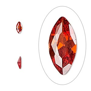 Faceted Gems Cubic Zirconia Reds