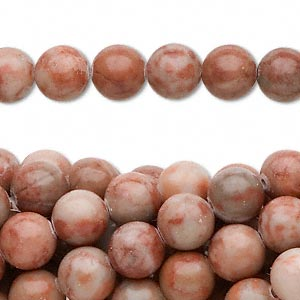 Beads Grade C Red Spot Stone