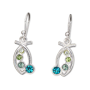 Fishhook Earrings Blues H20-1046JC