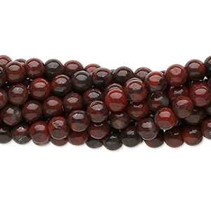 Bead, Brecciated Jasper (natural), 4mm Round, C Grade, Mohs Hardness 6-1/2 7. Sold Per Pkg (10) 16-inch Strands 1048PS