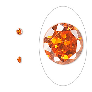 Faceted Gems Cubic Zirconia Oranges / Peaches