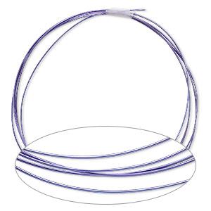 Wire, Anodized Niobium, Purple, Half-hard, Round, 20 Gauge. Sold Pkg 5 Feet