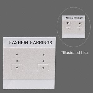 Earring Cards Other Plastics Greys