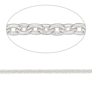 Unfinished Chain Sterling Silver Silver Colored