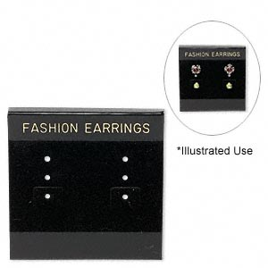 Earring Cards Other Plastics Blacks
