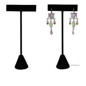 Display, Earring, Velvet, Black, 4-1/2 X 2-1/2 X 1 Inches. Sold Individually