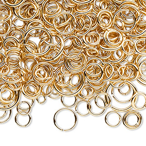 Open Jumprings Gold Plated/Finished Gold Colored