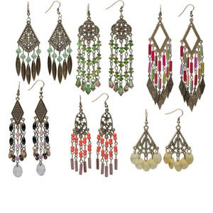 Earring Assortments Brass Plated/Finished Mixed Colors