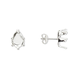 Earring Settings Sterling Silver Silver Colored