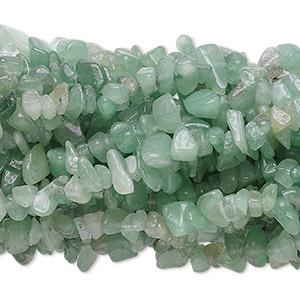 Pretty Strand of Green Aventurine gemstone chips